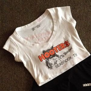 0540d7dab0221 Hooters Tops - 💟Authentic Hooters Girl Uniform Crop Top💟