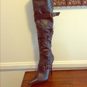 Aldo black over knee boots.