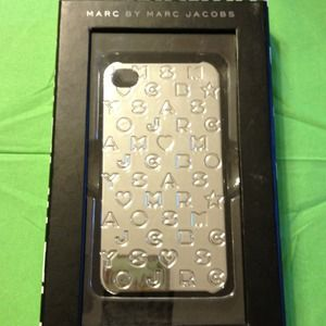 Marc Jacobs silver iphone 4/4s case