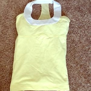 PRICE LOWERED light yellow LULULEMON tank