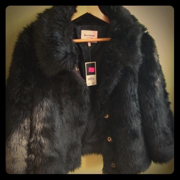 5e25b2d689d2 Juicy Couture Jackets & Coats | Reduced Black Faux Fur Coat | Poshmark