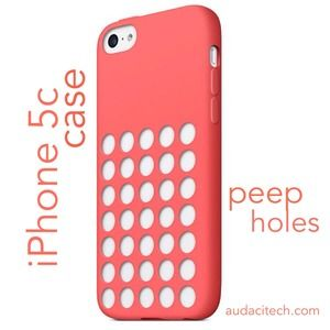 Accessories - New iPhone 5c Peep Holes Case in Red