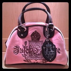 Juicy Couture Pink and Brown Bowler Bag