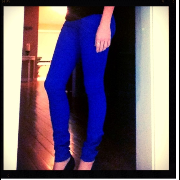 60% off Mossimo Denim - Royal blue skinny jeans from Jessica's ...