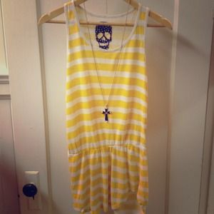 Hot Topic Tops - Yellow striped tank