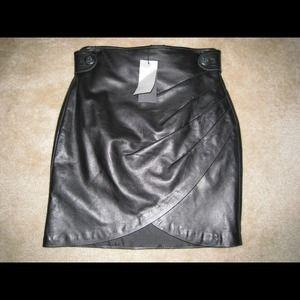 Stella & Jamie Leather Skirt
