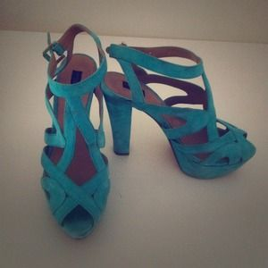 Turquoise Zara Collection Pumps