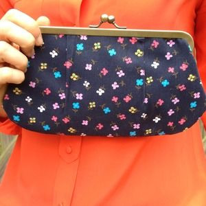Small fabric clutch