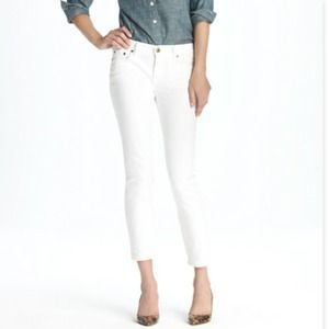 J. Crew Denim - JCrew white cropped matchstick skinnies