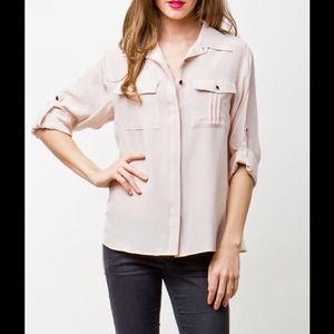 🎉HP🎉 Yumi Kim blush silk top