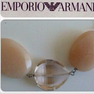 Emporio Armani, Adventurine & Crystal Necklace
