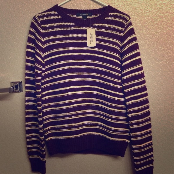 9% off Forever 21 Sweaters - Forever 21 maroon and white striped ...