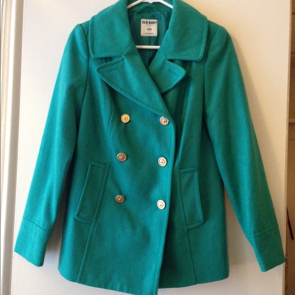 Old Navy - Classic Pea Coat in Bright Teal from Julia's closet on ...