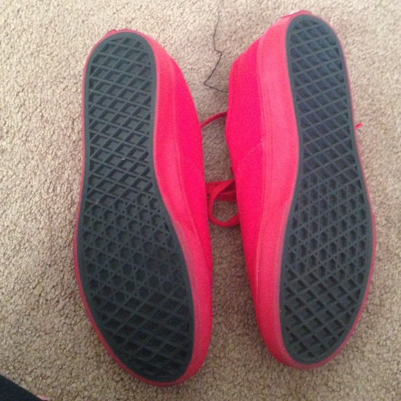 Vans All Red Shoes