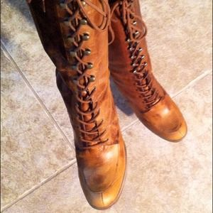 Penny ❤️ Kenny Boots - Very Vintage Boho Genuine Leather Corset Boots