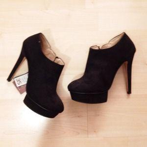 Zara platform ankle booties