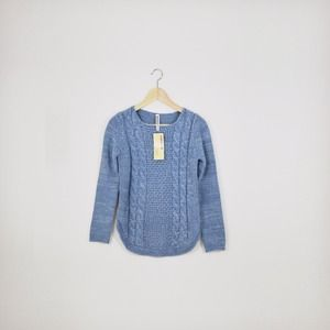 Sisouhor Sweaters - Blue thick fresh sweater