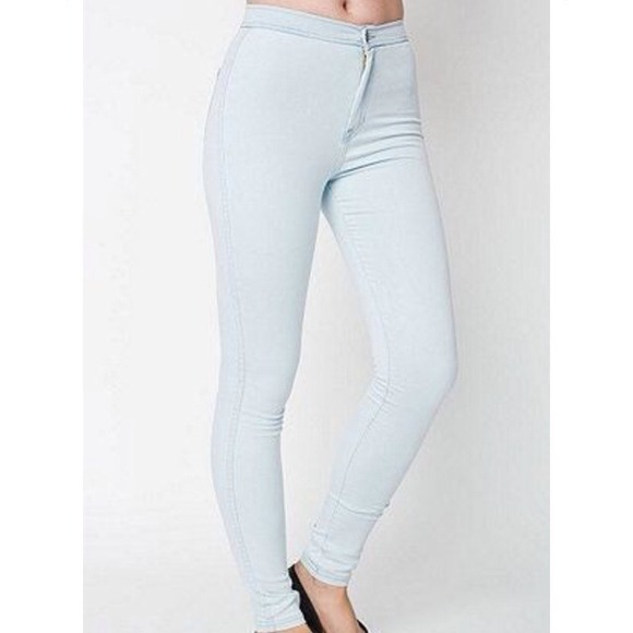 21% off American Apparel Denim - Light Wash High-Waist Easy Jean