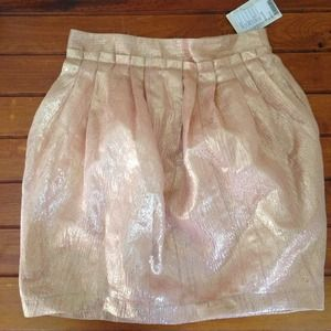 HP:) Urban Outfitters pink& gold Skirt
