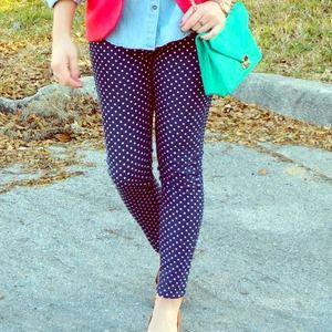 Dillard's  Denim - Dillard's polka dot skinny jeans