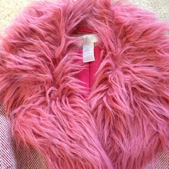 Reduced--h&m Pink Faux Fur