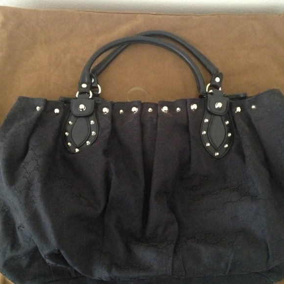 456c90d72c2a25 Gucci Handbags - **Reduced** Gucci Large Black Monogram Stud Tote