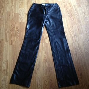 Celine black leather Pant