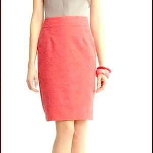 💕HOST PICK💕 Coral lace pencil skirt
