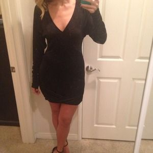 Bcbg black dress long sleeve