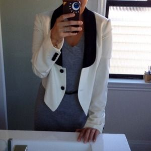 Adam Lippes Jackets & Blazers - Adam Lippes cream and black tuxedo blazer!