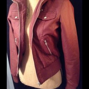 Red Leather Jacket, never worn*