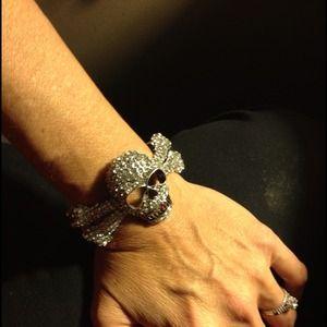 Jewelry - Gothic GLAM!!!  Sexy Sparkly Skeleton Bracelet!!