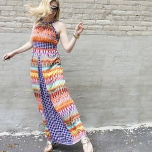 London Times Dresses & Skirts - London Times bold, multi-colored maxi dress