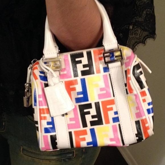 f87f48eda9f9 FENDI Handbags - Authentic Fendi Baulotto Zucca Boson Bag