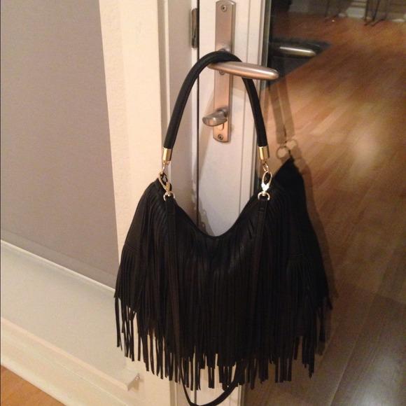H&m Black Fringe Bag