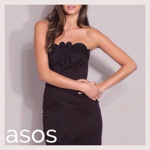 ASOS Premium Embroidered Strapless Pencil Dress
