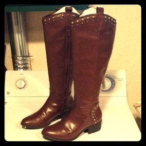 Boots - adorable gold studded fall boots