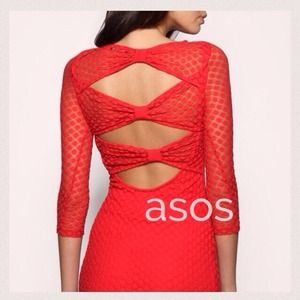 🎉❤️HOST PICK❤️🎉 ASOS Red Orange Lace Mini Dress