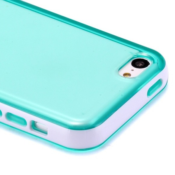62% off Accessories - iPhone 5c Clear Turquoise Frame Case ...