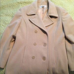 Outerwear - Tan beige wool cashmere winter coat