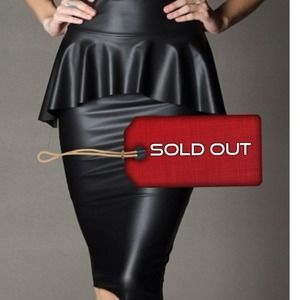 Fantastic Fall Faux Leather Peplum Skirt