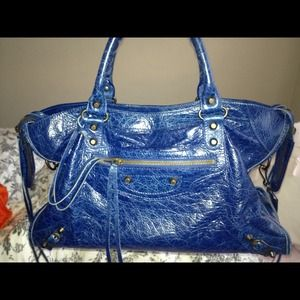 Authentic Balenciaga city bag in blue