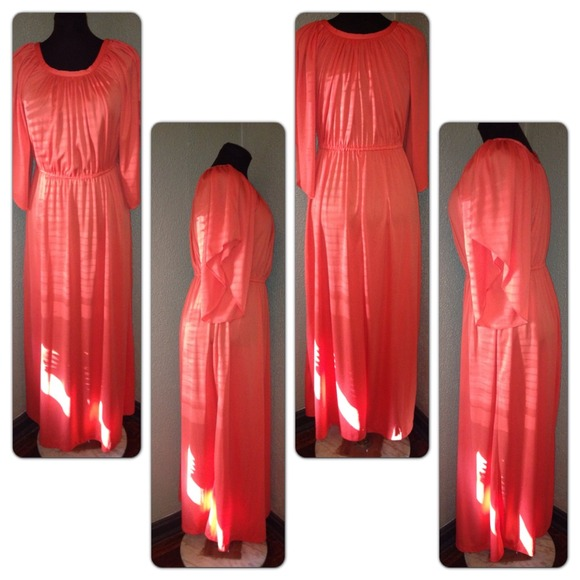 Vintage Solo Long Maxi Dress Fits Busty Med Or Lrg