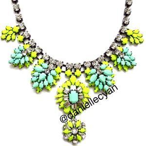Mint and neon STATEMENT necklace