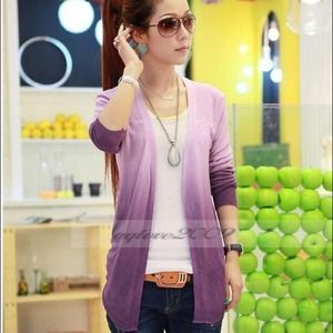 Sweaters - ⚠Reduced⚠ Hi-low Purple ombré cardigan