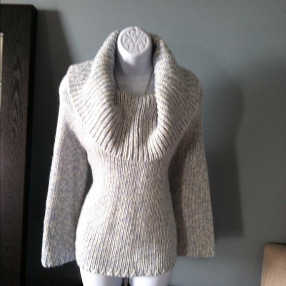 MICHAEL Michael Kors - Michael Kors chunky blue knit cowl neck ...