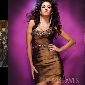 Tony Bowls Dresses & Skirts - NWOT Strapless Dress & Bolero by Tony Bowls