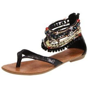 ZiGiny Women`s Femme Sandal Black Glitter