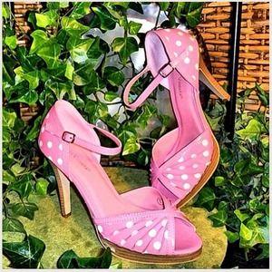 Shoes - New! Pink Polka- a -Dot Heel
