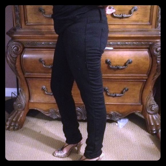 Black skinny pants by ANA size 4 stretchy material